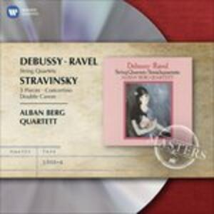 Quartetti per archi - CD Audio di Claude Debussy,Maurice Ravel,Alban Berg Quartett