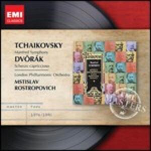 Sinfonia Manfred / Scherzo capriccioso - CD Audio di Antonin Dvorak,Pyotr Il'yich Tchaikovsky,Mstislav Rostropovich,London Philharmonic Orchestra