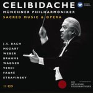 Musica sacra - Ouvertures da opere - CD Audio di Sergiu Celibidache,Münchner Philharmoniker