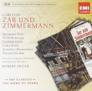 Zar und Zimmermann - CD Audio di Gustav Albert Lortzing