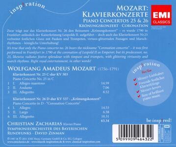 Concerti per pianoforte n.25, n.26 - CD Audio di Wolfgang Amadeus Mozart - 2