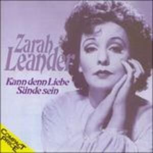 Kann Denn Liebe Suende Se - CD Audio di Zarah Leander