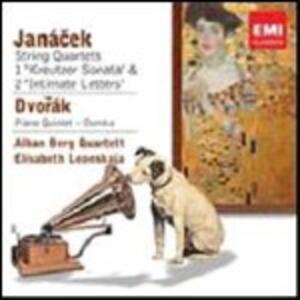 Quartetti per archi n.1, n.2 / Quintetto con pianoforte op.81 - CD Audio di Antonin Dvorak,Leos Janacek,Alban Berg Quartett,Elisabeth Leonskaja