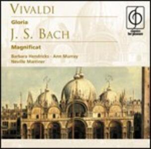 Gloria / Magnificat - CD Audio di Johann Sebastian Bach,Antonio Vivaldi,Barbara Hendricks,Ann Murray,Neville Marriner