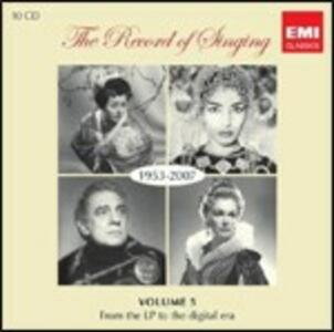 The Record of Singing 1953-2007 - CD Audio