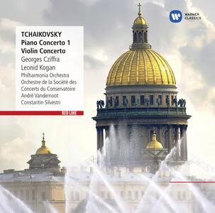Concerto per pianoforte - Concerto per violino - CD Audio di Pyotr Il'yich Tchaikovsky,György Cziffra,Leonid Kogan