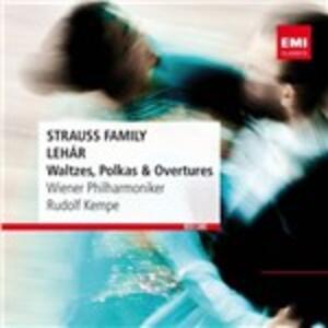 Waltzes - CD Audio di Johann Strauss,Franz Lehàr,Wiener Philharmoniker,Rudolf Kempe