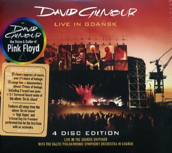 Live in Gdansk - CD Audio + DVD di Zbigniew Preisner,David Gilmour,Polish Baltic Philharmonic Orchestra
