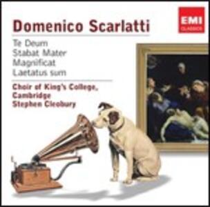 Te Deum - Stabat Mater - Magnificat - Laetatus Sum - Miserere - Cujus Animam Gementem - CD Audio di Domenico Scarlatti,King's College Choir,Stephen Cleobury