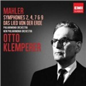 Sinfonie n.2, n.4, n.7, n.9 - Das Lied von der Erde - CD Audio di Gustav Mahler,Otto Klemperer
