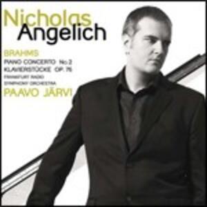 Concerto per pianoforte - Klavierstücke op.75 - CD Audio di Johannes Brahms,Paavo Järvi,Radio Symphony Orchestra Francoforte,Nicholas Angelich