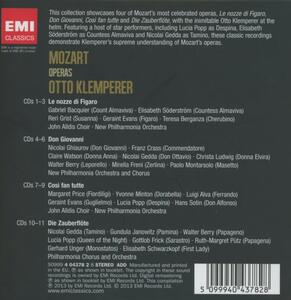 Le nozze di Figaro - Don Giovanni - Così fan tutte - Il flauto magico - CD Audio di Wolfgang Amadeus Mozart,Otto Klemperer - 2