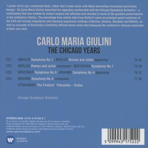 The Chicago Years - CD Audio di Carlo Maria Giulini,Chicago Symphony Orchestra - 2