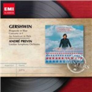 Rapsodia in blu - Un Americano a Parigi - CD Audio di George Gershwin,André Previn,London Symphony Orchestra