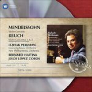 Concerti per violino - CD Audio di Felix Mendelssohn-Bartholdy,Max Bruch,Itzhak Perlman,New Philharmonia Orchestra