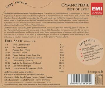 Gymnodpedie. Best of Satie - CD Audio di Erik Satie - 2
