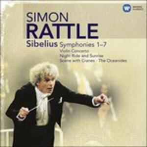 Sinfonie complete - Concerto per violino - Night Ride and Sunrise - Gli Oceanidi - CD Audio di Jean Sibelius,Simon Rattle,Nigel Kennedy,Philharmonia Orchestra,City of Birmingham Symphony Orchestra