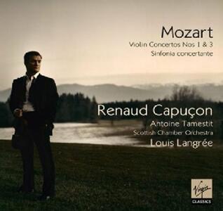 Concerti per violino n.1, n.3 - Sinfonia concertante - CD Audio di Wolfgang Amadeus Mozart,Renaud Capuçon,Scottish Chamber Orchestra,Louis Langrée
