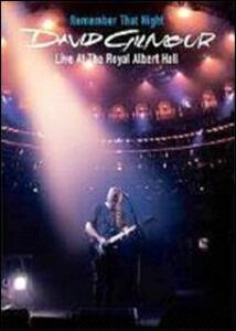 David Gilmour. Remember That Night. Live At The Royal Albert Hall (2 DVD) - DVD