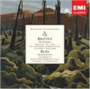 War Requiem / Moring Eroes - CD Audio di Benjamin Britten,Sir Arthur Bliss,Simon Rattle,Sir Charles Groves,City of Birmingham Symphony Orchestra,Royal Liverpool Philharmonic Orchestra