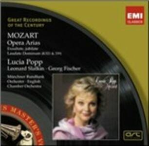 Opera Arias - Exsultate Jubilate - Laudate Dominum - CD Audio di Wolfgang Amadeus Mozart,Lucia Popp,Leonard Slatkin,English Chamber Orchestra,Radio Symphony Orchestra Monaco,Georg Fischer