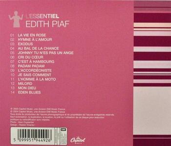 L'Essentiel - CD Audio di Edith Piaf - 2