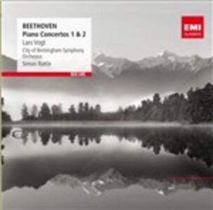 Concerti per pianoforte n.1, n.2 - CD Audio di Ludwig van Beethoven,Simon Rattle,City of Birmingham Symphony Orchestra,Lars Vogt