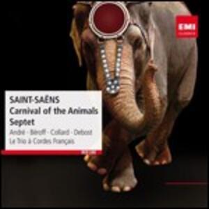 Il Carnevale degli animali - Septuor - CD Audio di Camille Saint-Saëns