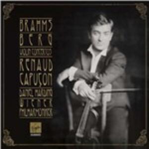 Concerti per violino - CD Audio di Alban Berg,Johannes Brahms,Renaud Capuçon,Wiener Philharmoniker,Daniel Harding