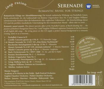 Serenade. Romantic Music - CD Audio di Neville Marriner - 2
