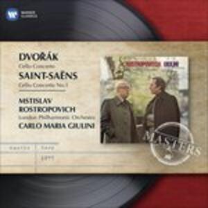 Concerti per violoncello - CD Audio di Antonin Dvorak,Camille Saint-Saëns,Carlo Maria Giulini,Mstislav Rostropovich,London Philharmonic Orchestra