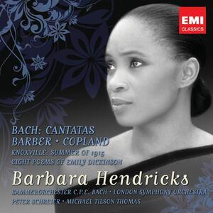 Bach, Barber, Copland - CD Audio di Johann Sebastian Bach,Aaron Copland,Samuel Barber,Barbara Hendricks