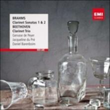 Sonate per clarinetto n.1, n.2 / Trio con clarinetto - CD Audio di Ludwig van Beethoven,Johannes Brahms,Jacqueline du Pré,Gervase de Peyer,Daniel Barenboim