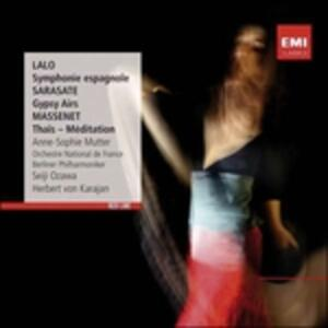 Sinfonia spagnola / Arie gypsy / Thais - Meditation - CD Audio di Jules Massenet,Edouard Lalo,Pablo de Sarasate,Anne-Sophie Mutter,Seiji Ozawa,Orchestre National de France