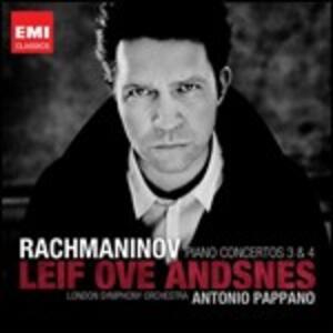 Concerti per pianoforte n.3, n.4 - CD Audio di Sergej Vasilevich Rachmaninov,Leif Ove Andsnes,London Symphony Orchestra,Antonio Pappano