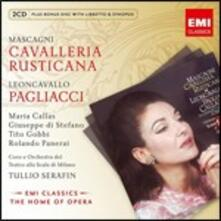 Pagliacci / Cavalleria rusticana - CD Audio di Maria Callas,Giuseppe Di Stefano,Pietro Mascagni,Ruggero Leoncavallo,Tullio Serafin