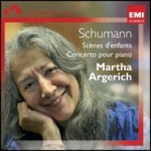 Scènes d'enfant - Concerto per pianoforte - CD Audio di Robert Schumann,Martha Argerich
