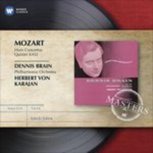 Concerti per corno - Quintetto K452 - CD Audio di Wolfgang Amadeus Mozart,Herbert Von Karajan,Philharmonia Orchestra,Dennis Brain