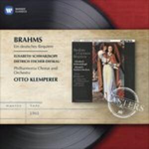 Un Requiem tedesco (Ein Deutsches Requiem) - CD Audio di Johannes Brahms,Otto Klemperer,Dietrich Fischer-Dieskau,Elisabeth Schwarzkopf,Philharmonia Orchestra