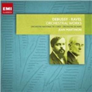 Musica orchestrale - CD Audio di Claude Debussy,Maurice Ravel,Jean Martinon
