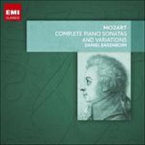 Sonate e variazioni per pianoforte complete - CD Audio di Wolfgang Amadeus Mozart,Daniel Barenboim