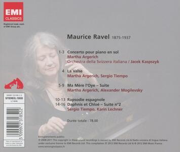 Concerto in Sol - Ma mère l'Oye - La Valse - Rapsodie espagnole - Daphnis et Chloé - CD Audio di Maurice Ravel,Martha Argerich,Orchestra della Svizzera Italiana - 2