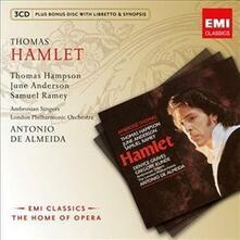 Hamlet - CD Audio di Thomas Hampson,Samuel Ramey,June Anderson,London Philharmonic Orchestra,Ambroise Thomas,Antonio de Almeida