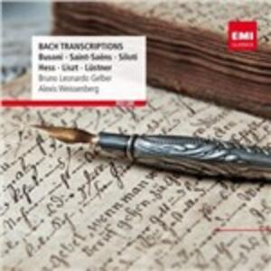 Trascrizioni per pianoforte - CD Audio di Johann Sebastian Bach,Bruno Leonardo Gelber