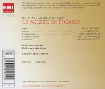 Le nozze di Figaro - CD Audio di Wolfgang Amadeus Mozart,Carlo Maria Giulini,Fiorenza Cossotto,Elisabeth Schwarzkopf,Giuseppe Taddei,Philharmonia Orchestra - 2
