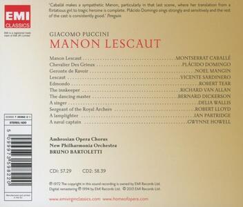 Manon Lescaut - CD Audio di Montserrat Caballé,Placido Domingo,Giacomo Puccini,New Philharmonia Orchestra,Bruno Bartoletti - 2