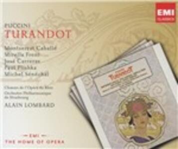 Turandot - CD Audio di Montserrat Caballé,Mirella Freni,José Carreras,Giacomo Puccini,Alain Lombard,Orchestra Filarmonica di Strasburgo