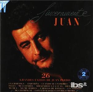 Sinceramente Juan - CD Audio di Juan Pardo