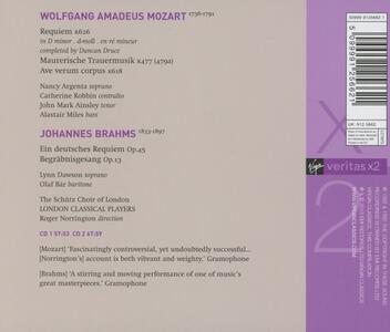Un Requiem tedesco (Ein Deutsches Requiem) / Requiem - CD Audio di Johannes Brahms,Wolfgang Amadeus Mozart,Roger Norrington,London Classical Players - 2