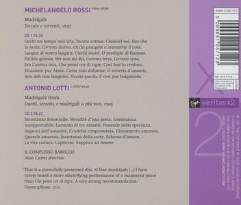 Madrigali - CD Audio di Michelangelo Rossi,Antonio Lotti,Alan Curtis - 2